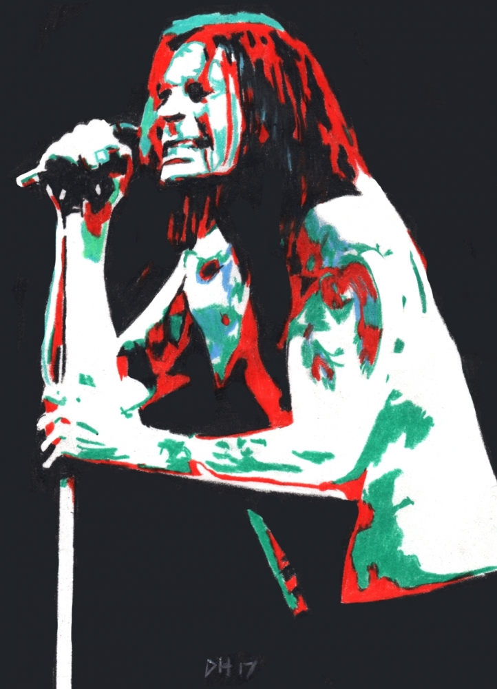 Ozzy Osbourne by DHWallArtist